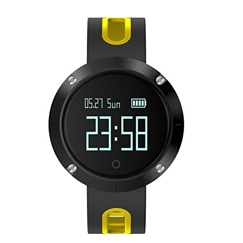 Reloj Inteligente,Btruely Herren DM58 Pulsera con Pantalla Táctil Bluetooth 4.0 con Cámara/Análisis de Podómetro para ISO8.0 + and Android 4.3+,IP68 ...