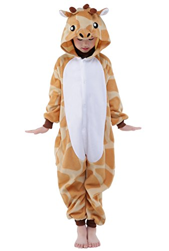 Unisex Children Halloween Pajamas Costume Kids Cosplay Sleepwear (105, Giraffe) (Giraffe Soft Costume)