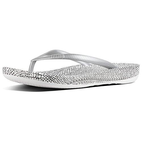 619 Femme Silver Iqushion Argenté FitFlop Mix Tongs Snakeprint x6nS8t0qH
