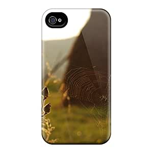 For Iphone 4/4s Premium Tpu Case Cover Cobweb In The Field Protective Case