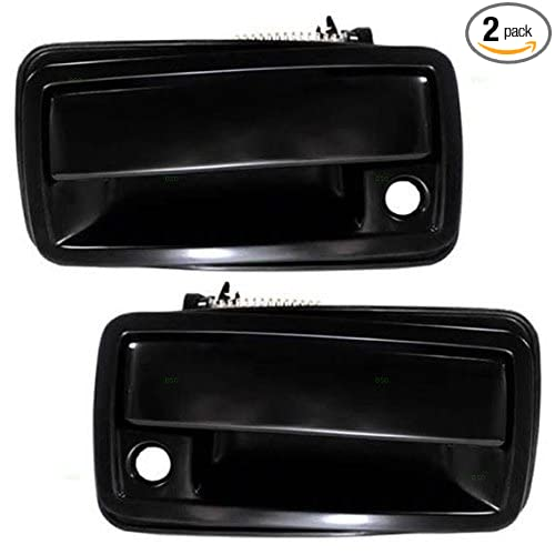 New Set of 2 Door Handles Front or Rear Driver /& Passenger Side Chevy Black Pair