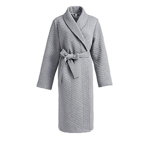 Accappatoio Donna In Bathrobes Spessore Light Cotone Medio Notte Morbido Abbigliamento Pigiama Da Vestaglia Camicia Grey L Color 170cm Dimensione XPxxqAwC0