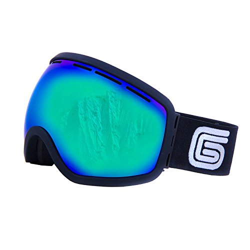 Grayne Blackout MTN Goggles with Icefall Anti-Fog Lens and Extra Yellow Low-Light Lens by Grayne