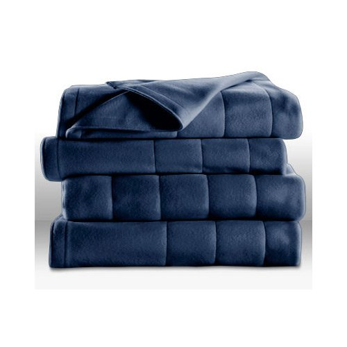 Sunbeam Heated Electric Blanket Quilted Fleece Royal Dreams