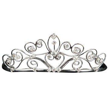 elope Gemstone Tiara, Silver, One Size