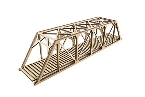 War World Scenics Single Track Low-Detail Girder Bridge 400mm - OO/HO Model Railway Diorama