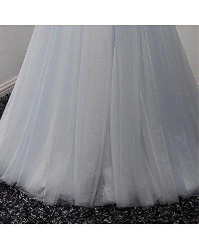 Mariée À Long Mariage Floral Robe De Soirée De Bal Du Soir Annie Pour La Mariée Taille Plus Bleu Ciel 2017