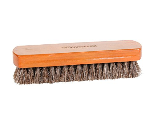 Rothco Genuine Horse Hair Bristle Shoe Shine Brush w/ Wooden - Horse Ascot