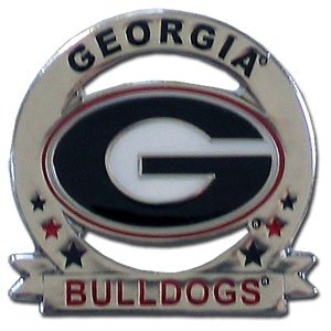 Glossy College Pin - Georgia Bulldogs Glossy College Pin - Georgia Bulldogs (Pin Georgia Lapel)