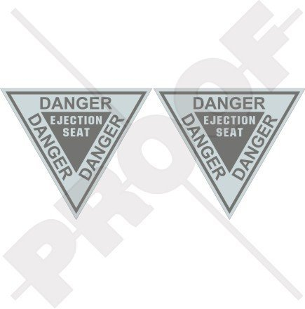 danger-ejection-seat-lowvis-usaf-usmc-martin-baker-36-90mm-vinyl-stickers-decals-x2