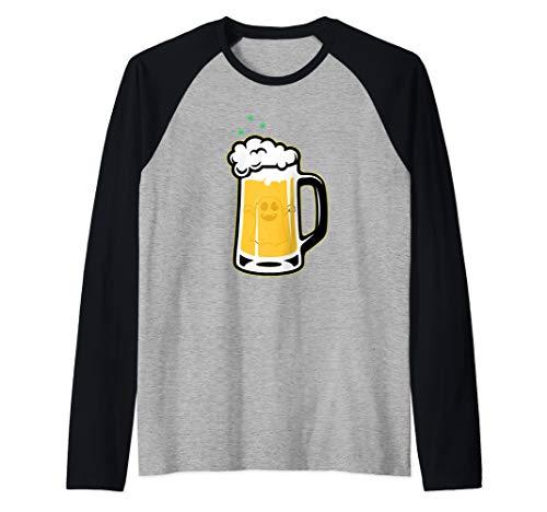 Halloween Drinking Squad Ghost Beer Mug - Halloween Souvenir Raglan Baseball Tee -