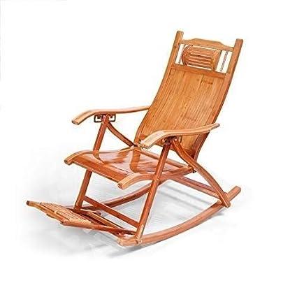 Surprising Amazon Com Wxf Rocking Chair Bamboo Lounge Chair Adult Inzonedesignstudio Interior Chair Design Inzonedesignstudiocom