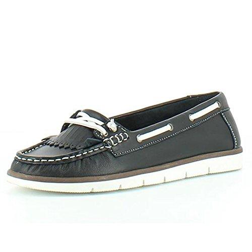 Heavenly Feet Heavenly Feet Cherry Black Shoes - Mocasines de Piel para mujer negro
