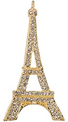 "Eiffel Tower Paris Brooch Pin 2.5"" with Exquisite Detail and Crystal Accents"