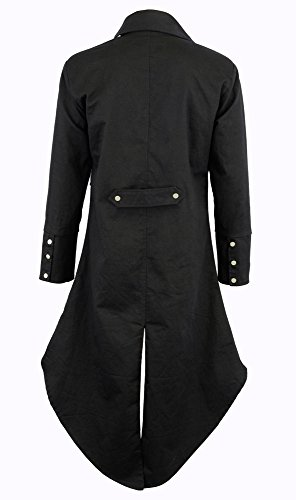 Darkrock Men's Cotton Twill Steampunk Tailcoat Jacket Goth Victorian Coat/Trench 5