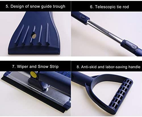 Garciasia B15 Raspador de hielo Seguridad vial avanzada Coche Conjunto de herramientas de desmontaje fácil y avanzado Ensamblaje de palas para nieve Raspado de agua con hielo en nieve (Color: azul): Amazon.es: