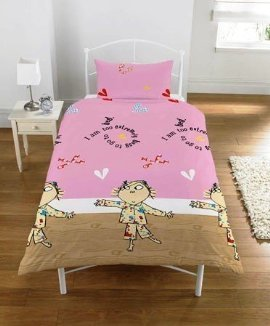 - Charlie and Lola Pink Duvet Cover Set Single Twin Includes Duvet Cover and Pillow Case Kids Bedroom Decor