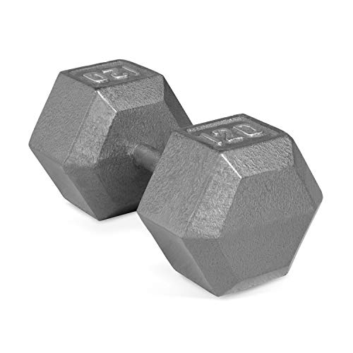- CAP Barbell Single Solid Cast Iron Hex Dumbbell, 120-Pound