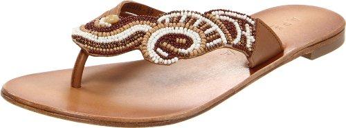 bile Thong Sandal,Natural,38 EU/8 M US (Apepazza Leather Sandals)