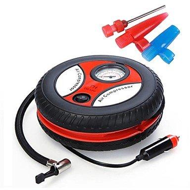 JKER Mini inflador de neumáticos de coche compresor de aire dc12v 260psi auto bomba portátil , Black: Amazon.es: Coche y moto