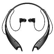 #LightningDeal Mpow Jaws Gen-3 Bluetooth Headphones Wireless Neckband Headphones W/13H Playtime & CVC 6.0 Noise Cancelling Mic, Wireless Neckband Headset W/Call Vibrate Alert, Bluetooth Magnetic Earphones, Black