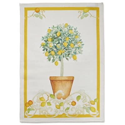 "Sur La Table Lemon Tree Linen Kitchen Towel SORRENTO LEMON , 28"" x 20"""