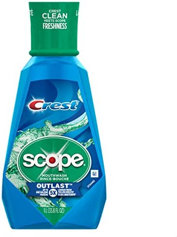 Crest Scope Outlast Mouthwash Long Lasting Peppermint