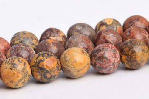 6mm Natural Multicolor Leopard Skin Jasper Grade Round Loose Beads 15.5'' Crafting Key Chain Bracelet Necklace Jewelry Accessories Pendants ()