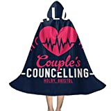 QINWEILU Jac Naylors Couples Councelling Holby Bristol Unisex Kids Hooded Cloak Cape Halloween Christmas Party Decoration Role Cosplay Costumes Outwear Black