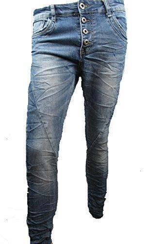 Lexxury Jeans mujeres Baggy Boyfriend abierto con botón ...