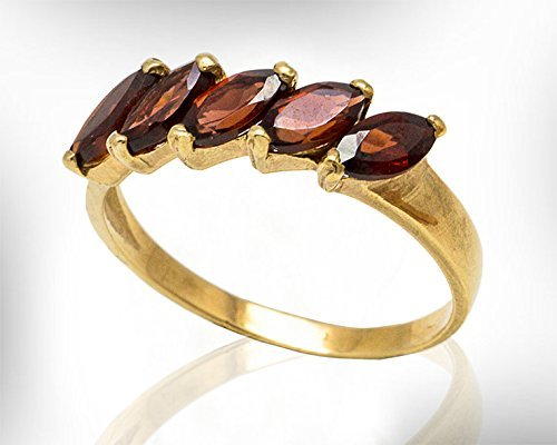 60cc0a9d5696e9 Handmade Gold Garnet Ring, Women Gemstone Rings,January Birthstone Ring For  Her. Customized Material 22k Gold Plated Silver- 9k-14k Solid Gold,, Gemstones ...
