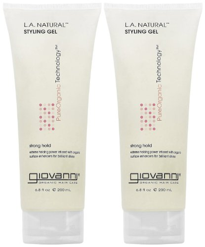 GIOVANNI- Eco Chic L.A. Natural Styling Gel- Strong Hold for All Hair Types- 2 PACK (6.8 Ounce)