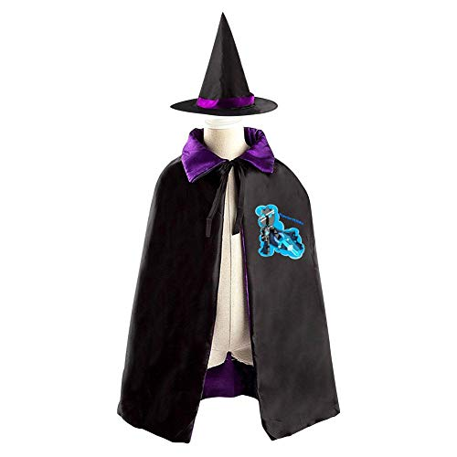 VSHFGC Popular-MMOs Halloween Costumes Vampire Magician Witch Cloak Wizard Hat Suit for Girls Boys Purple -