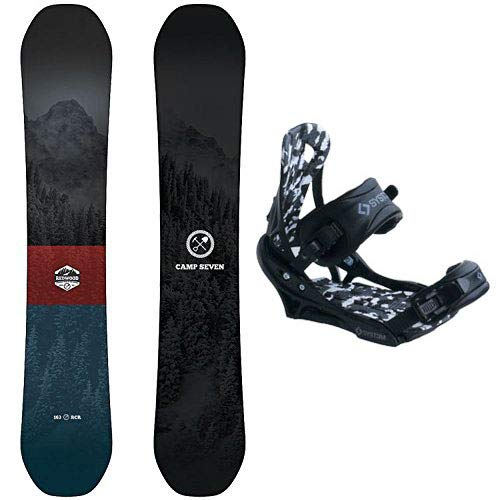 System Redwood Snowboard with APX Bindings Men's Snowboard Package 158 cm Wide ()