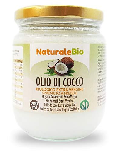Biologische kokosolie extra vierge 200 ml. Rauw en koud geperst. 100% Organisch, natuurlijk en puur. Native Bio en…