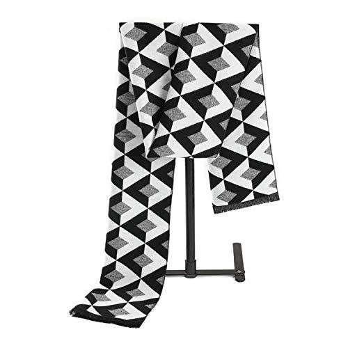 Écharpe Noir Changer Blanc Cachemire 180cm Pour Amdxd Hommes Treillis Hiver Automne 4qExxAazw