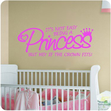 Princess Pink If The Crown Fitslittle Girls Room Nursery Decal