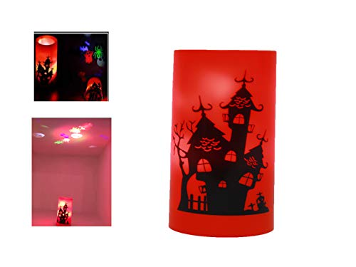 Candle Shape Projection Lamp Howllloween Candle Projector Light