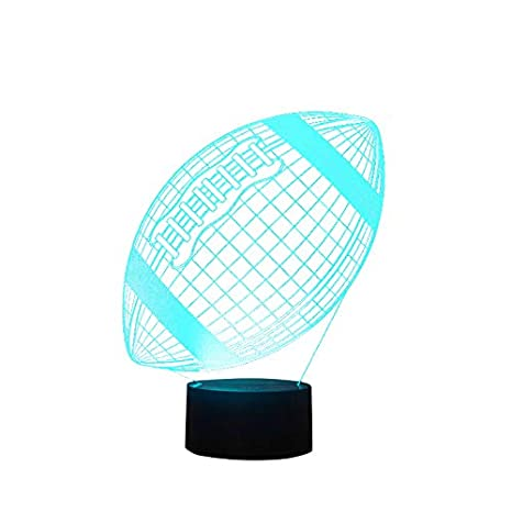 3D Lamps Amazon   Football Lamp 3d Lamp Led Night Light 7 Color Changing Touch Switch