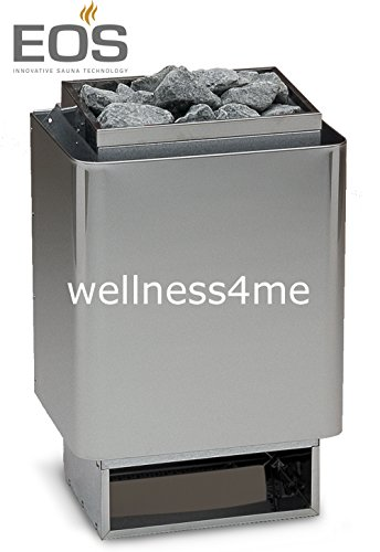 Saunaofen 34A 6kW, Außenmantel Edelstahl, inkl. Saunasteine, Made in Germany EOS Well Solutions