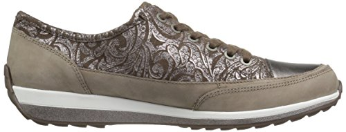 Ara Womens Hermione Fashion Sneaker Taupe Combo
