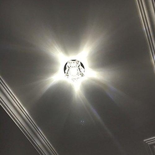 SanKD 5W Crystal Ceiling Lamps Mini Chandelier Warm White Light AC85V-265V D3.94″ H2.76″