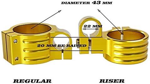 Riser 43mm CNC Clip On handlebars Fit Honda CBR600 F4I 2001-2007 F4 1999-2000