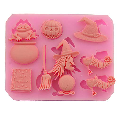 (FantasyDay 2 Pack Halloween Witch Hat Silicone Cake Mold Chocolate Sugarcraft Decorating Fondant Tool for Your Soap, Mini Teacake, Fondant, Candy, Ice Cube, Candy, Cookie, Gummy and More)