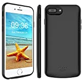 Stoon iPhone 6s Plus/6 Plus/8 Plus/7 Plus Battery Case, 5500mAh Detachable Portable Charger Case Extended Battery Protective Charging Case for iPhone 8 Plus/7 Plus/6s Plus/6 Plus (5.5 Inch) (Black)