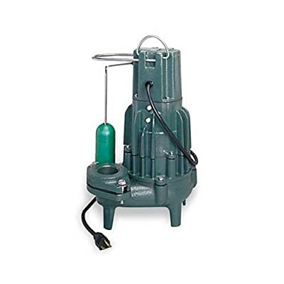 Zoeller 292-0001 115-Volt 1/2 Horse Power Model M292 High Head Waste-Mate Automatic Cast Iron Single Phase Submersible Sewage/Effluent Pump