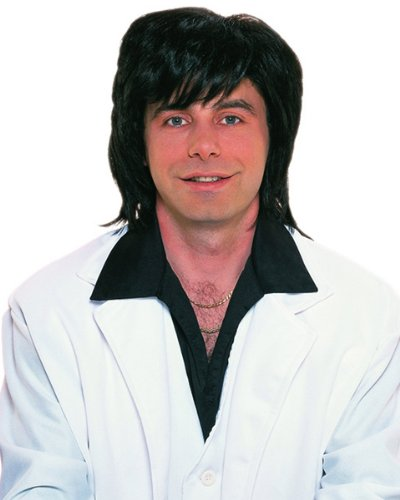 Deluxe 70's Shag Wig in Black - Adult Std. -