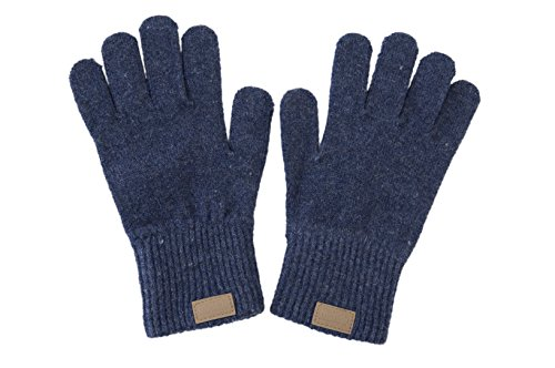 Melton Baby Wool Gloves, Marine, 7-10Y