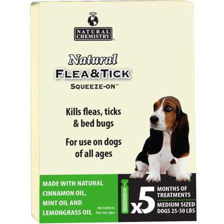 Natural Chemistry Natural Flea Tick SqueezeOn for Dogs 2550 lbs (5 Months)