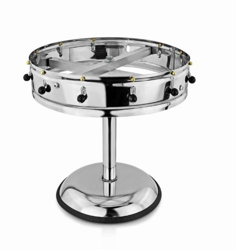 New Star Stainless Steel Order Wheel Ticket Holder, 12 Clips, 14-Inch Dia with 10-Inch Chrome Heavy Base, 1 - Rack Order Holder